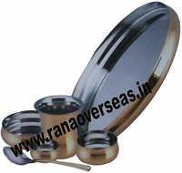 Brass Steel Thali Set