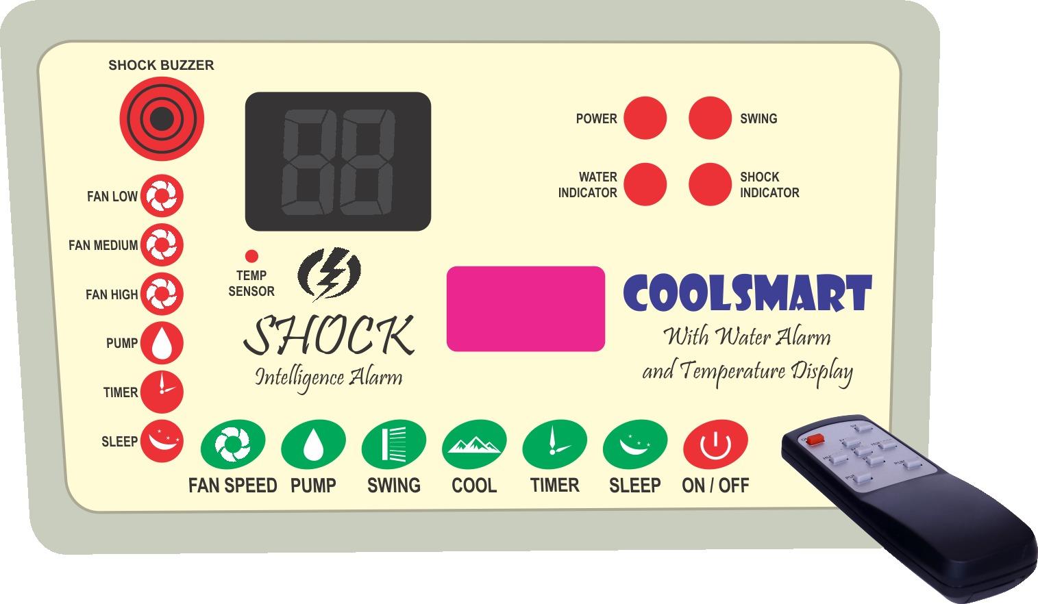 DESRET cooler remote control with water alarm