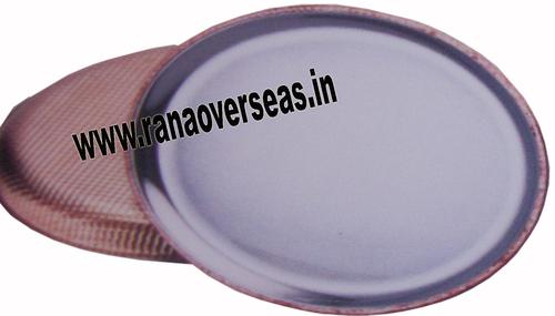 Round Steel Copper Dinner Plate