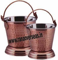 Steel Copper Hammered Balti