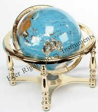 Earth Globe with Brass stand with compass