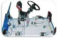 Cut Section Model Of Mock Layout Of A Car Wiring