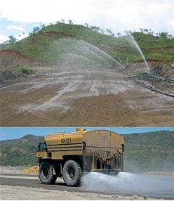 Dust Suppression on Haulage Road