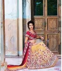 Multicolored Satin Designer Saree