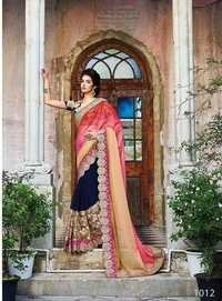 Multicolored Glori Chiffon Designer Saree