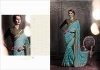 heroine dramatic sarees, georgette sarees