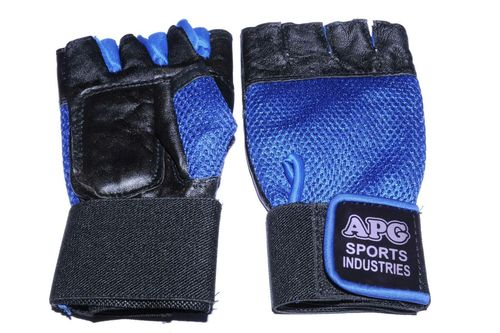 Apg Blue Net Gym Gloves