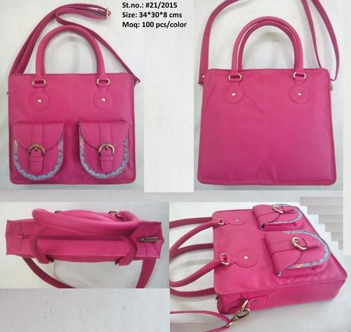 Ladies Fashion Pink Hand Bag