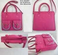 Ladies Fashion Pink Hand Bag