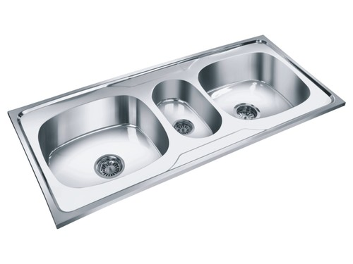 Double Bowl with Vegetable Mini Bowl Sink