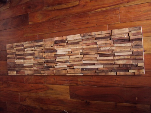Brick Wall Panels in Wood
