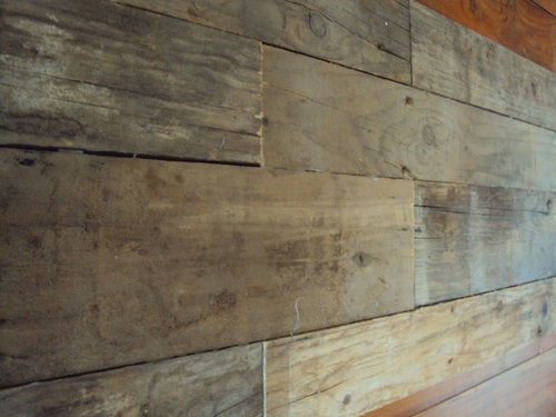 Weathered Wood Wall Panel
