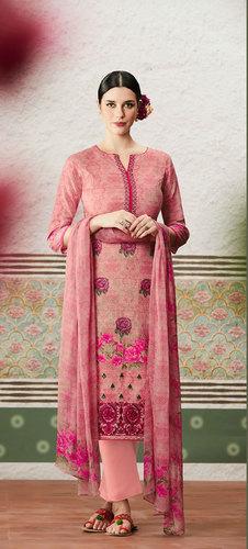 Latest Designer Cotton Satin Dress material