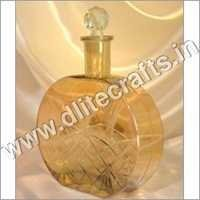 Yellow Luster Glass Bottle