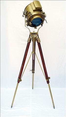 Searchlight Wooden Tripod Floor Lamp