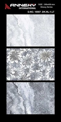 Floral Print Ceramic Wall Tiles