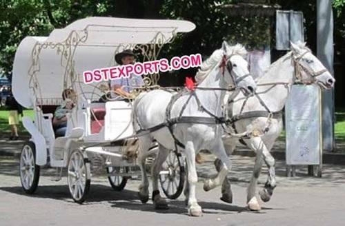 Horse Drawn Vis A Vis Victoria Carriage