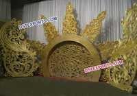 Indian Wedding Fiber Moon Backdrop