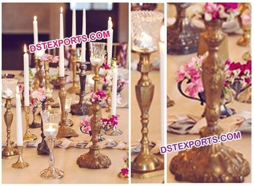 Wedding Decor Brass Candlabras