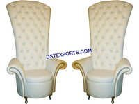Wedding High Back Crystal Fitted White Chairs