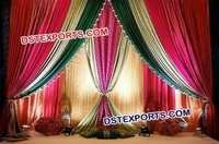 Asian Wedding Stage Backdrop Curtains
