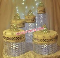 Crystal Wedding Cake Stands