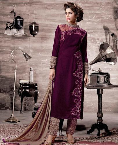 Stylish Velvet Style Suit
