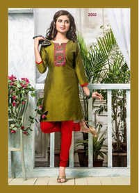 Stylish Cotton Silk Kurti