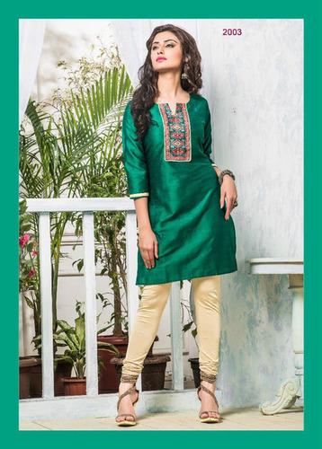 Designer Cotton Silk Kurti