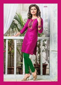 Exclusive Designer Cotton Silk Kurti