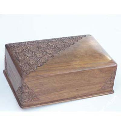Antique stylish wooden boxes
