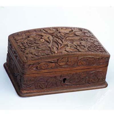 Antique stylish wooden boxes