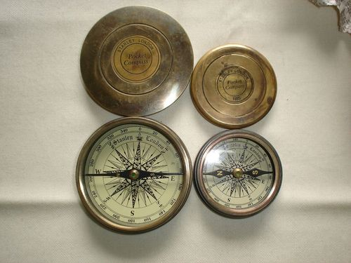 Antique nautical compass