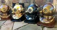 Antique nautical diver helmet