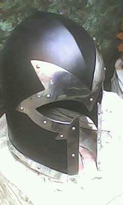 Antique warrior helmet