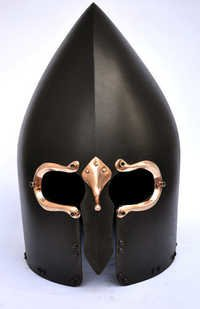 Antique warrior helmet