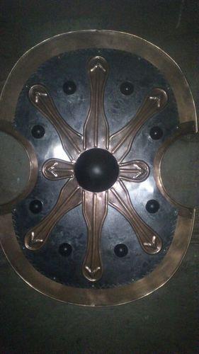 Antique metal shield