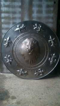 Antique stylish metal shield