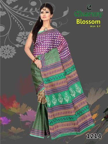Pure Cotton Designer Saree