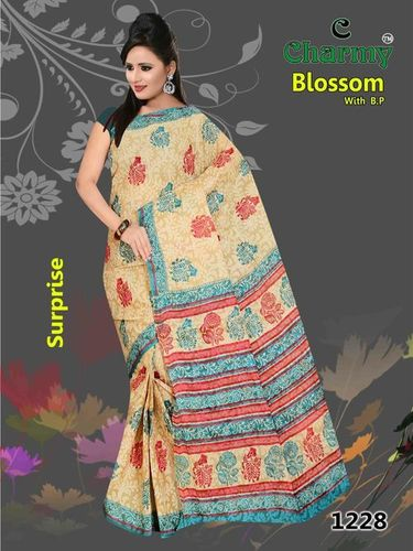 Printed Fancy Cotton Saree