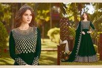 Designer LGreen Long Sleeve Anarkali Suit