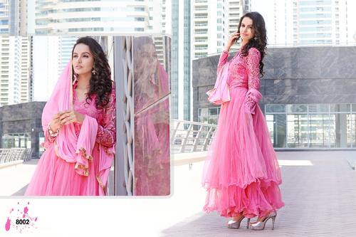 Pink Long Sleeve Anarkali Suit