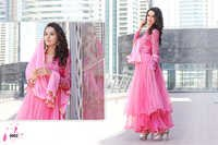 Pink Long Sleeve Anarkali Suit