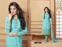 Designer Aqua Straight Suit