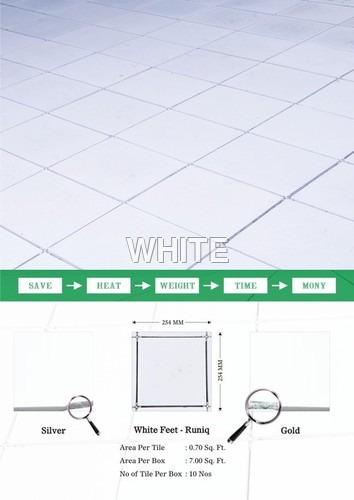 White Feet Cool Tile