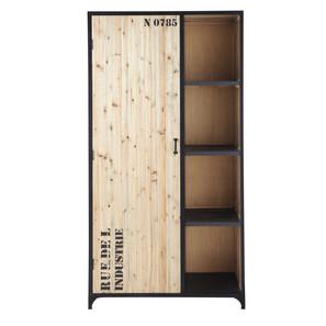 Iron Wooden Door Almirah