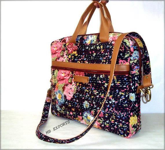 Kantha Quilt Laptop Bag