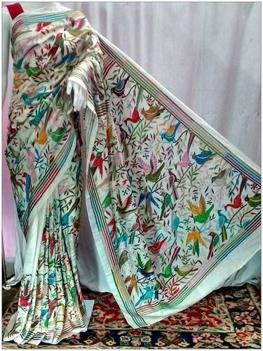 Bangalore Silk Exclusive White Saree