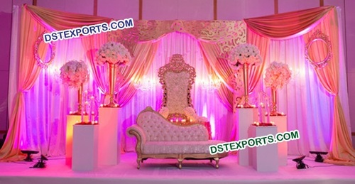 Asian Wedding Elegance Stage Decorations