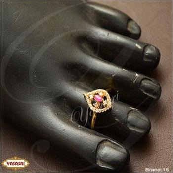 Ruby stone toe ring new